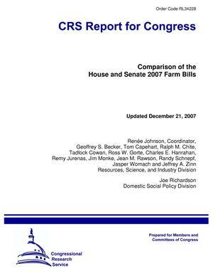 Primary view of object titled 'Comparison of the House and Senate 2007 Farm Bills'.