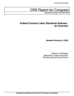Primary view of object titled 'Federal Contract Labor Standards Statutes: An Overview'.