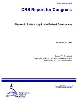 Primary view of object titled 'Electronic Rulemaking in the Federal Government'.