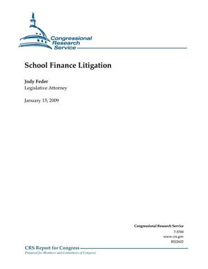 Primary view of object titled 'School Finance Litigation'.