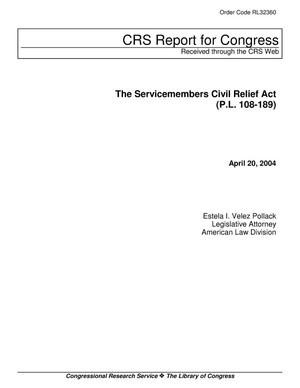 Primary view of object titled 'The Servicemembers Civil Relief Act (P.L. 108-189)'.