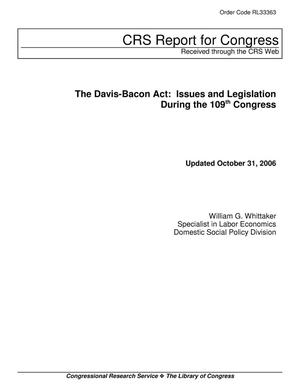 Primary view of object titled 'The Davis-Bacon Act: Issues and Legislation During the 109th Congress'.