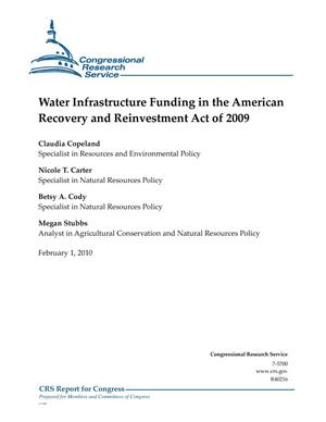 Primary view of object titled 'Water Infrastructure Funding in the American Recovery and Reinvestment Act of 2009'.