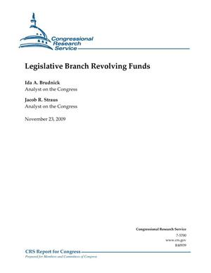 Primary view of object titled 'Legislative Branch Revolving Funds'.