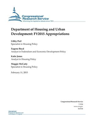 Primary view of object titled 'Department of Housing and Urban Development: FY2015 Appropriations'.