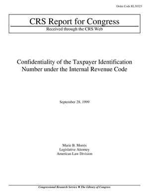 Primary view of object titled 'Confidentiality of the Taxpayer Identification Number under the Internal Revenue Code'.