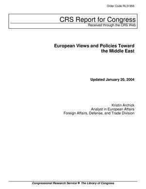 Primary view of object titled 'European Views and Policies Toward the Middle East'.