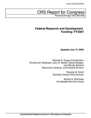 Primary view of object titled 'Federal Research and Development Funding: FY2007'.