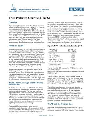 Primary view of object titled 'Trust Preferred Securities (TruPS)'.
