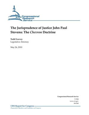 Primary view of object titled 'The Jurisprudence of Justice John Paul Stevens: The Chevron Doctrine'.