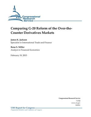 Primary view of object titled 'Comparing G-20 Reform of the Over-theCounter Derivatives Markets'.