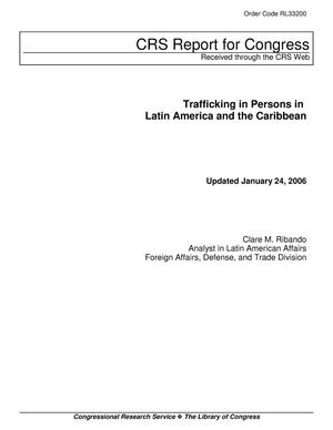 Primary view of object titled 'Trafficking in Persons in Latin America and the Caribbean'.