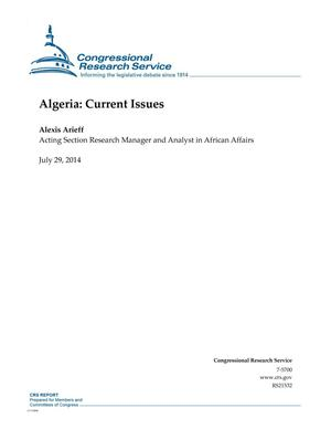 Primary view of object titled 'Algeria: Current Issues'.