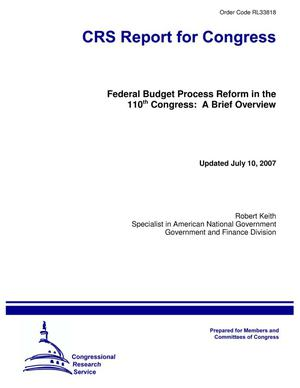 Primary view of object titled 'Federal Budget Process Reform in the 110th Congress: A Brief Overview'.