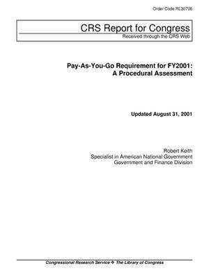 Primary view of object titled 'Pay-As-You-Go Requirement for FY2001: A Procedural Assessment'.