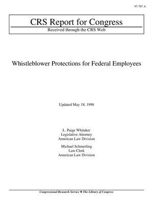 Primary view of object titled 'Whistleblower Protections for Federal Employees'.