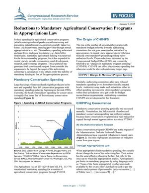 Primary view of object titled 'Reductions to Mandatory Agricultural Conservation Programs in Appropriations Law'.