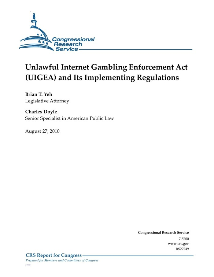 Internet gambling enforcement gambling line money