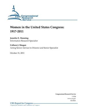 Primary view of object titled 'Women in the United States Congress: 1917-2011'.