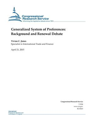 Primary view of object titled 'Generalized System of Preferences: Background and Renewal Debate'.