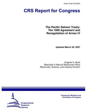 Primary view of object titled 'The Pacific Salmon Treaty: The 1999 Agreement and Renegotiation of Annex IV'.