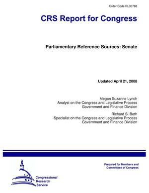 Primary view of object titled 'Parliamentary Reference Sources: Senate'.