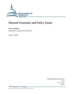 Primary view of object titled 'Ethanol: Economic and Policy Issues'.