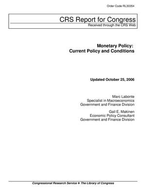 Primary view of object titled 'Monetary Policy: Current Policy and Conditions'.