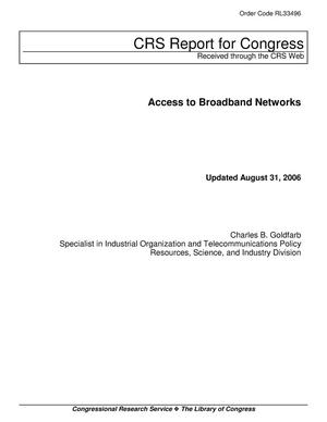 Primary view of object titled 'Access to Broadband Networks'.