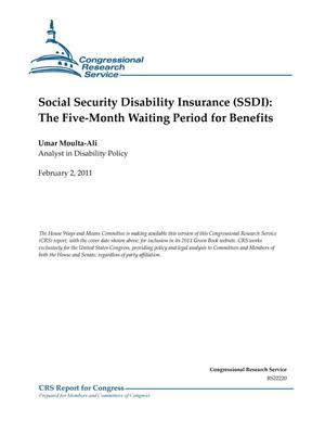 Primary view of object titled 'Social Security Disability Insurance (SSDI): The Five-Month Waiting Period for Benefits'.