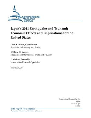 Primary view of object titled 'Japan's 2011 Earthquake and Tsunami: Economic Effects and Implications for the United States'.
