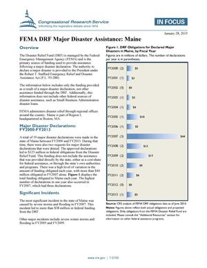 Primary view of object titled 'FEMA DRF Major Disaster Assistance: Maine'.