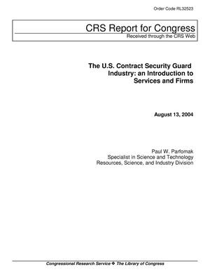 Primary view of object titled 'The U.S. Contract Security Guard Industry: an Introduction to Services and Firms'.