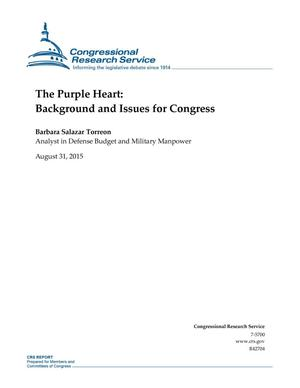 Primary view of object titled 'The Purple Heart: Background and Issues for Congress'.