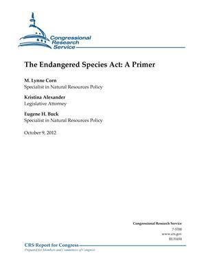 Primary view of object titled 'The Endangered Species Act: A Primer'.