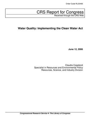 Primary view of object titled 'Water Quality: Implementing the Clean Water Act'.