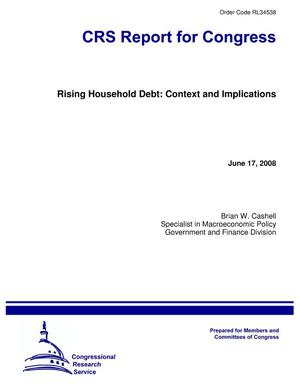 Primary view of object titled 'Rising Household Debt: Context and Implications'.