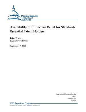 Primary view of object titled 'Availability of Injunctive Relief for StandardEssential Patent Holders'.