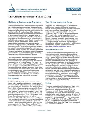 Primary view of object titled 'The Climate Investment Funds (CIFs)'.