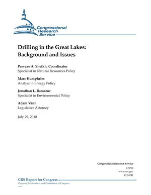 Primary view of object titled 'Drilling in the Great Lakes: Background and Issues'.