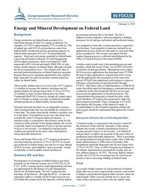 Primary view of object titled 'Energy and Mineral Development on Federal Land'.