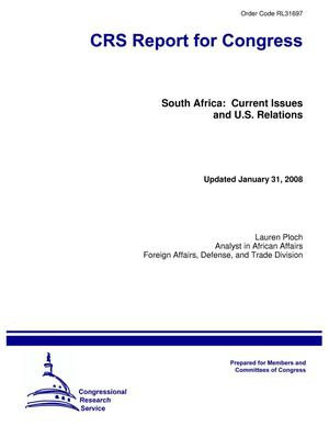 Primary view of object titled 'South Africa: Current Issues and U.S. Relations'.