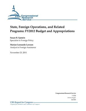 Primary view of object titled 'State, Foreign Operations, and Related Programs: FY2012 Budget and Appropriations'.