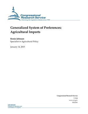 Primary view of object titled 'Generalized System of Preferences: Agricultural Imports'.