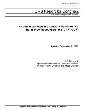 Primary view of object titled 'The Dominican Republic-Central America-United States Free Trade Agreement (CAFTA-DR)'.