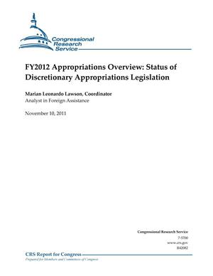 Primary view of object titled 'FY2012 Appropriations Overview: Status of Discretionary Appropriations Legislation'.