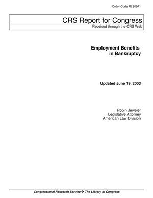 Primary view of object titled 'Employment Benefits in Bankruptcy'.