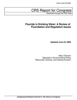 Primary view of object titled 'Fluoride in Drinking Water: A Review of Fluoridation and Regulation Issues'.