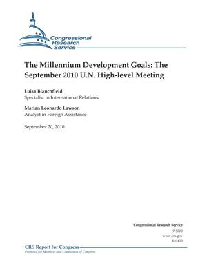 Primary view of object titled 'The Millennium Development Goals: The September 2010 U.N. High-level Meeting'.