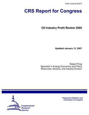 Primary view of object titled 'Oil Industry Profit Review 2005'.